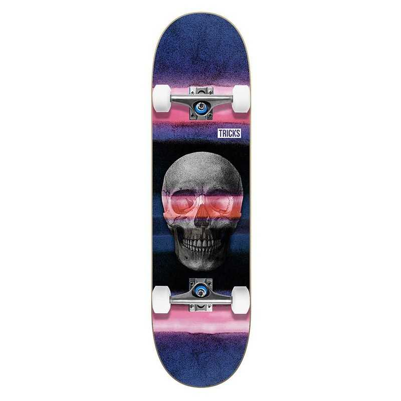 "Tricks Skull 7.75"" Skateboard"