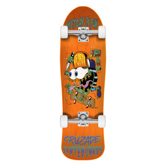 "Cruzade Sketchy Is Fun 9"" Skateboard"