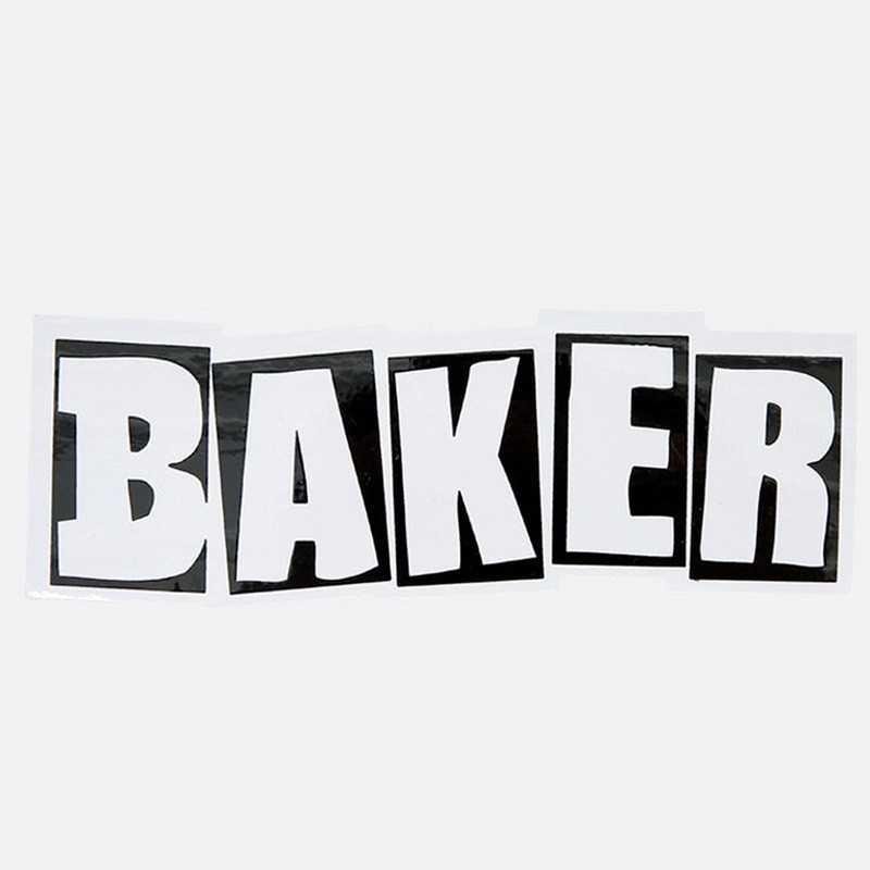 Baker Brand Logo White 12.5cm Autocollant