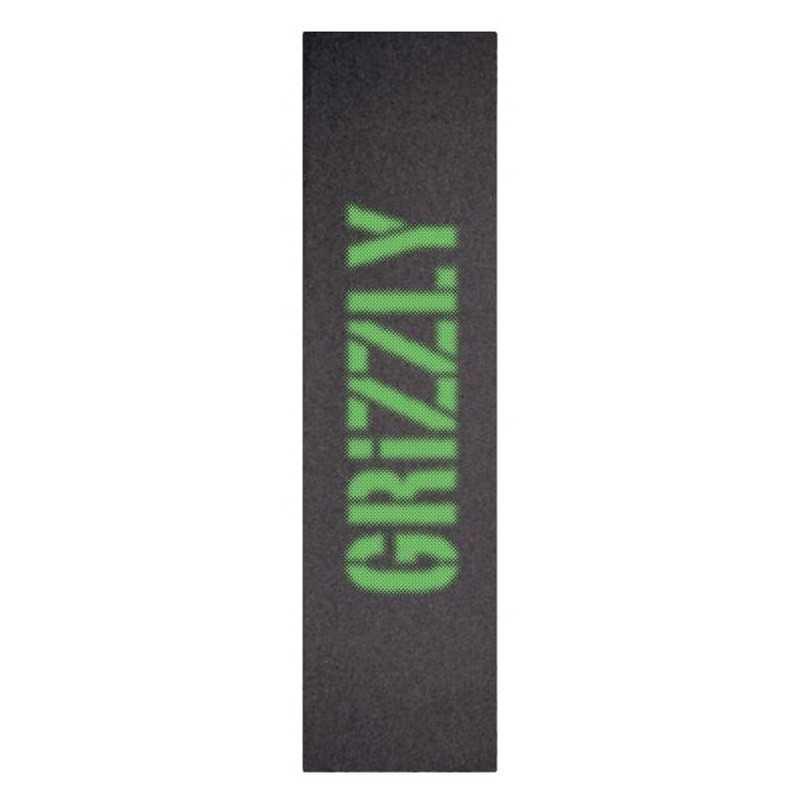"Grizzly Blurry Green 9""x33"" Grip Skateboard"
