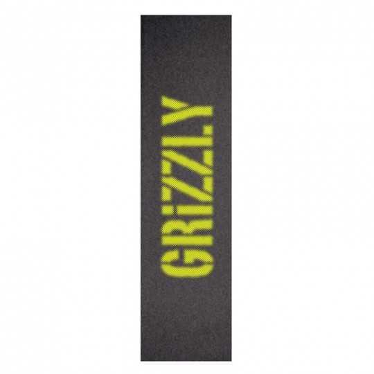 "Grizzly Blurry Yellow 9""x33"" Skateboard Griptape"