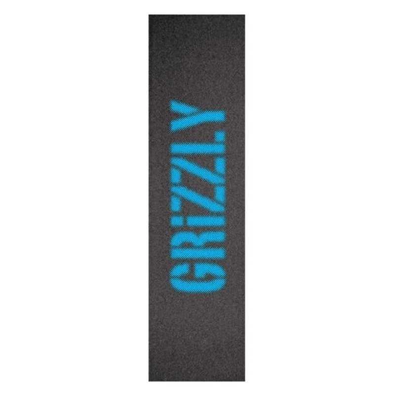"Grizzly Blurry Blue 9""x33"" Grip Skateboard"