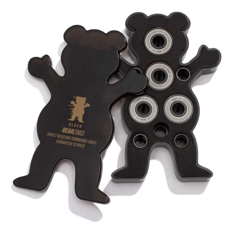 Grizzly Bear/ings Abec 9 Black Skateboard Bearings