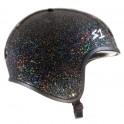 S-One Retro Lifer Black Glitter Skateboard Helmet(Shell)