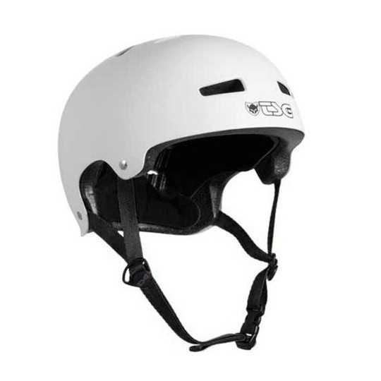 for Skateboarding Park Skating and Scooter Cycling TSG Evolution Skate /& Bike Helmet in Satin White w//Snug Fit /& Triple Cert MTB Roller Derby