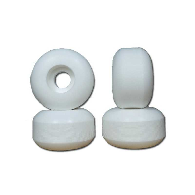 Nudes 52mm White Skateboard wheels