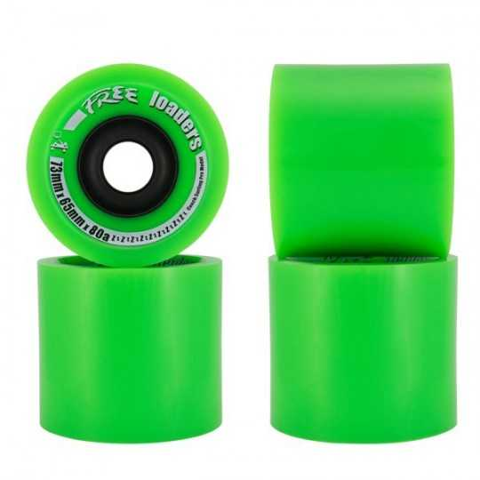 Free Wheel Loaders 73mm Longboard wheels