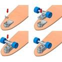 YOW Roulements et quincaillerie interne Skatesurf system