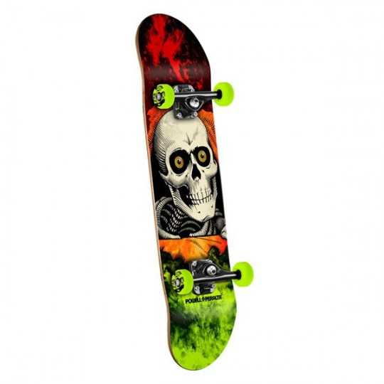"Powell Peralta Ripper storm Red 8"" Skateboard complet"