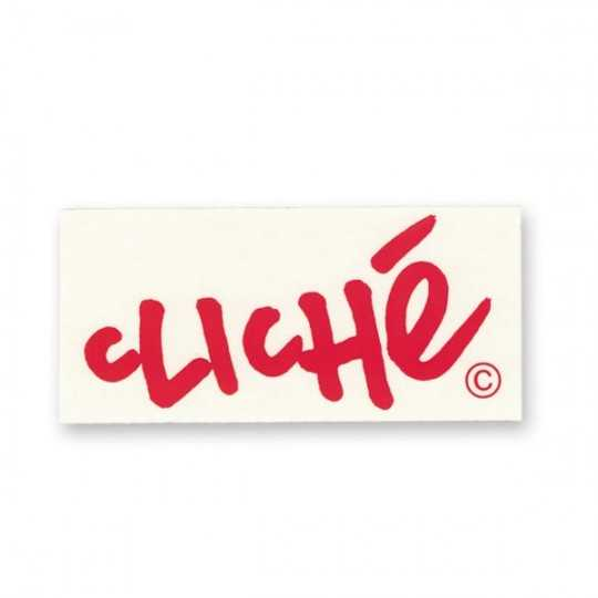 Cliché Autocollant Logo Written