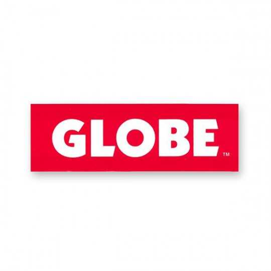 Globe Sticker Logo Red
