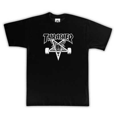 Trasher Skate Goat Logo Noir Tee Shirt