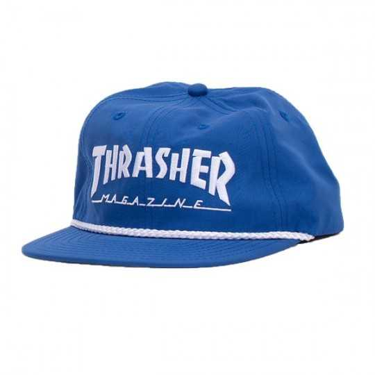 Trasher Cap Logo Rope Snapback Blue