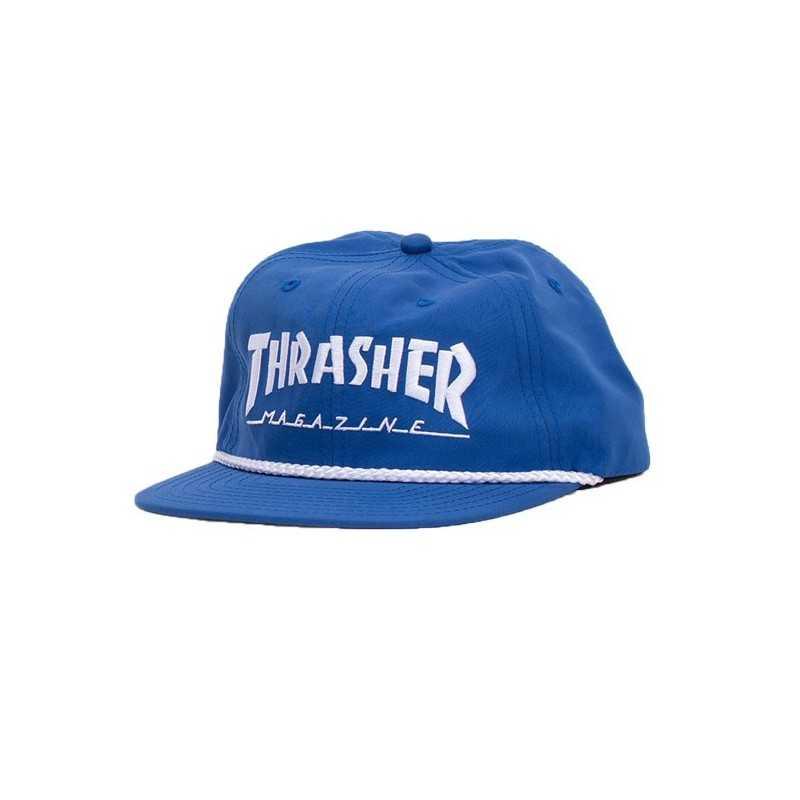 Trasher Logo Rope Snapback Bleu Casquette