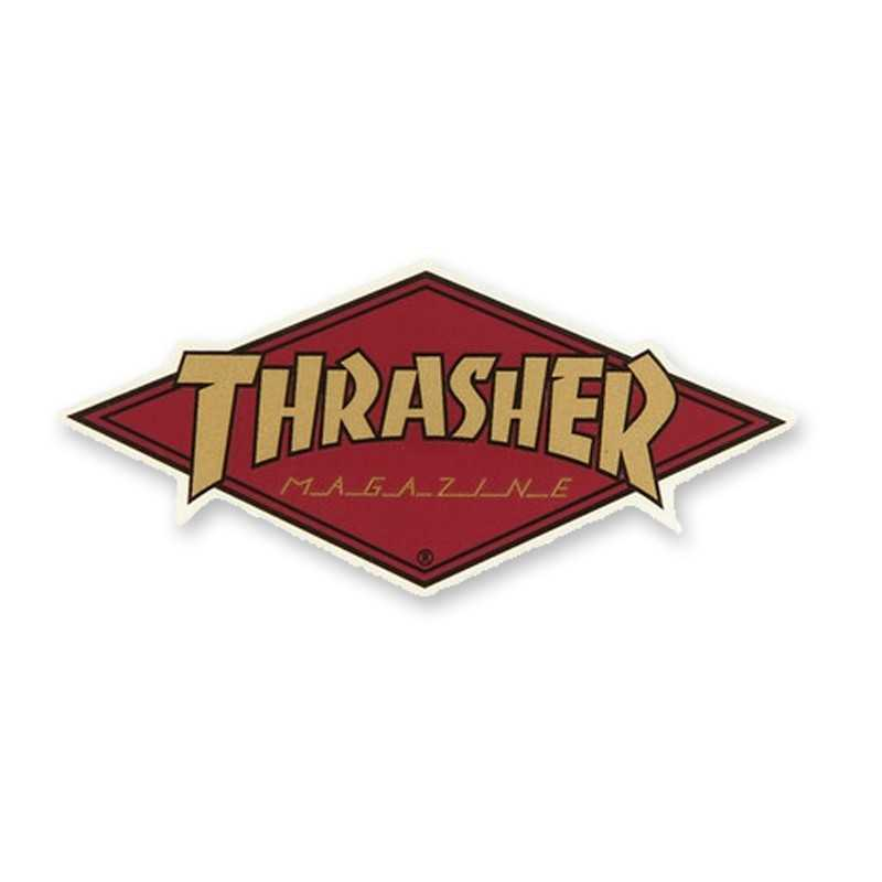 Trasher Diamond Logo Sticker
