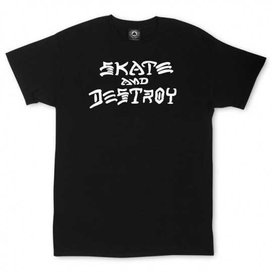Trasher Skate And Destroy Noir Tee Shirt