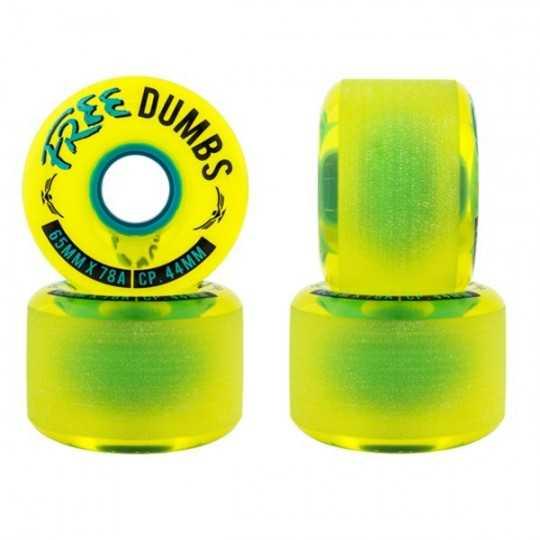 Free Wheel Dumbs V2 65mm Longboard wheels