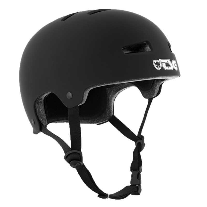 TSG Evolution Satin Black Skateboard Helmet
