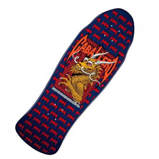 "Powell Peralta Caballero Street Navy Red 9.625"" Plateau Skateboard"
