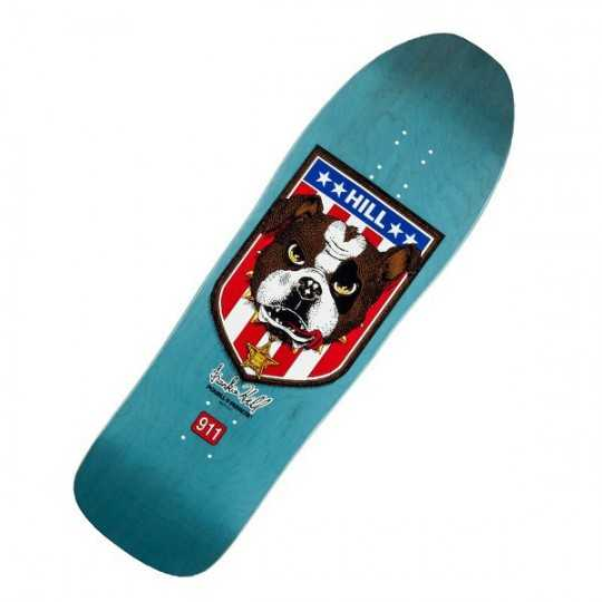 "Powell Peralta Hill Bulldog Blue 10"" Plateau Skateboard"