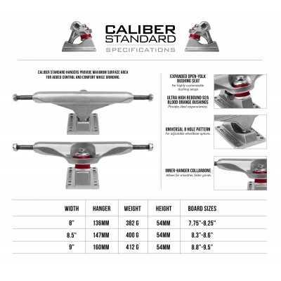 Caliber Standard Raw Skateboard Truck(Single)