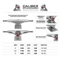 Caliber Standard Raw Skateboard Truck(Single)