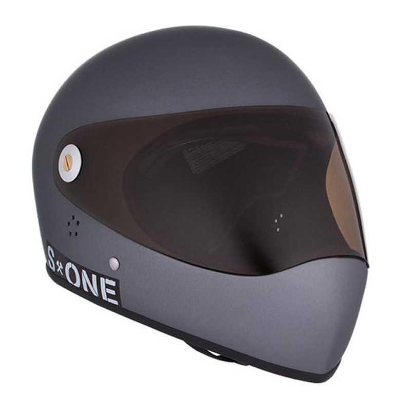 S-One Lifer Fullface Grey Matte Longboard helmet