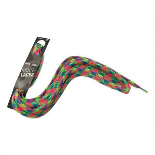 Riedell Lacets Rainbow Plaid 72""