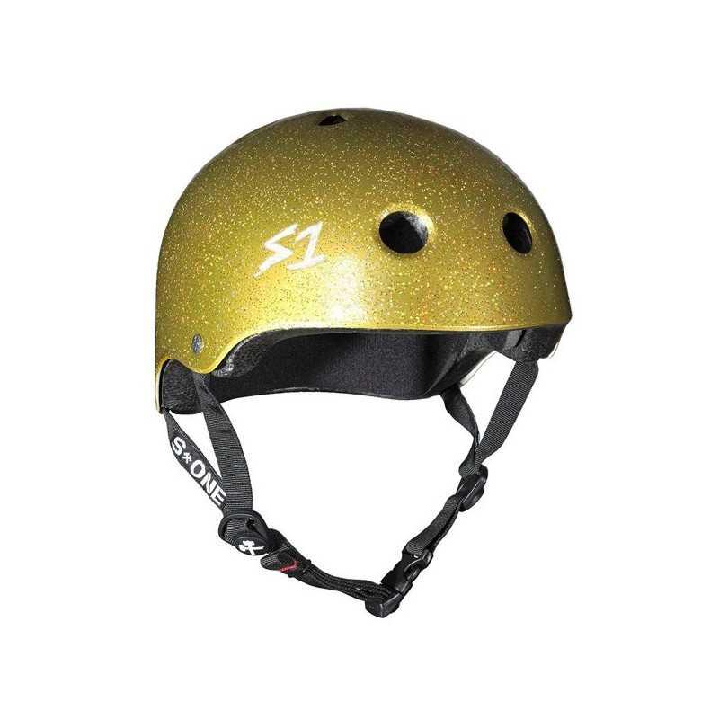 S-One V2 Lifer Gold Glitter Helmet
