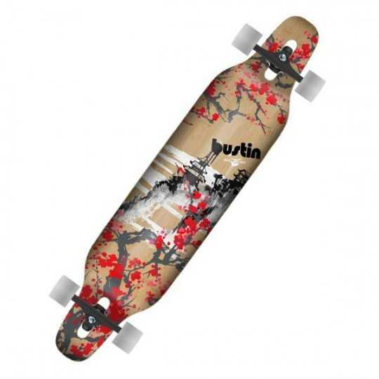 "Bustin Machete 39"" Blossom Longboard complet"