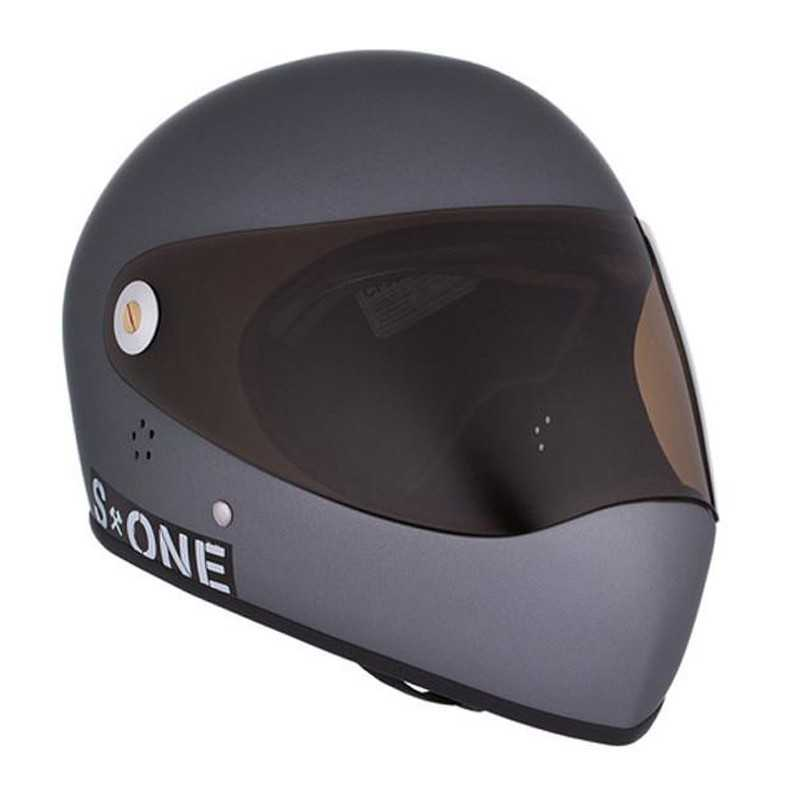 S-One Lifer Fullface Grey Matte Longboard helmet