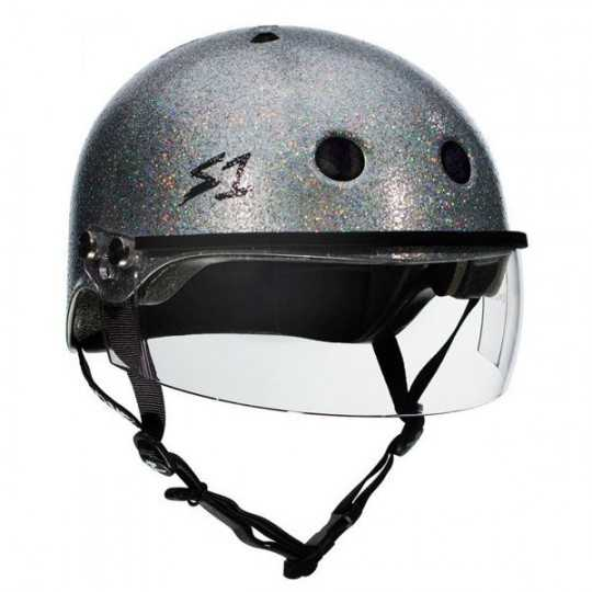 S-One Lifer Glitter With Visor Roller Derby Helmet