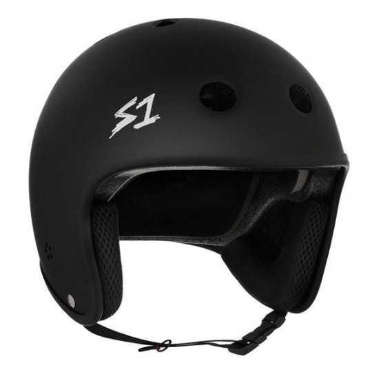 S-One Retro Lifer Black Matte Skateboard Helmet