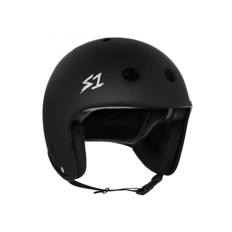 S-One Retro Lifer Black Matte Skateboard Helmet