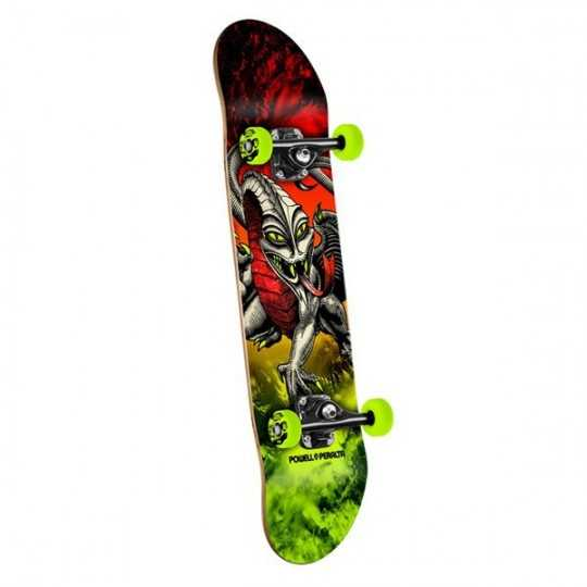 "Powell Peralta Cab Dragon Storm Red 7.75"" Skateboard"