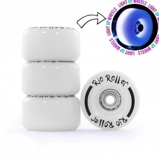 Rio Light Up 54mm Roller Skate Wheels(4 Pk)