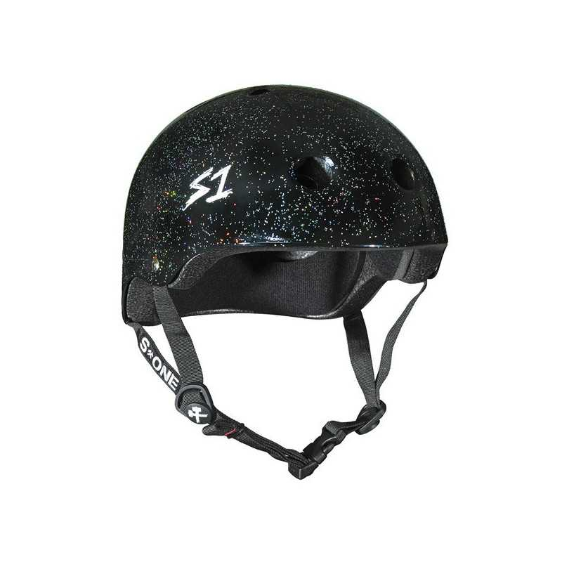 S-One Mini Lifer Noir Paillettes Casque