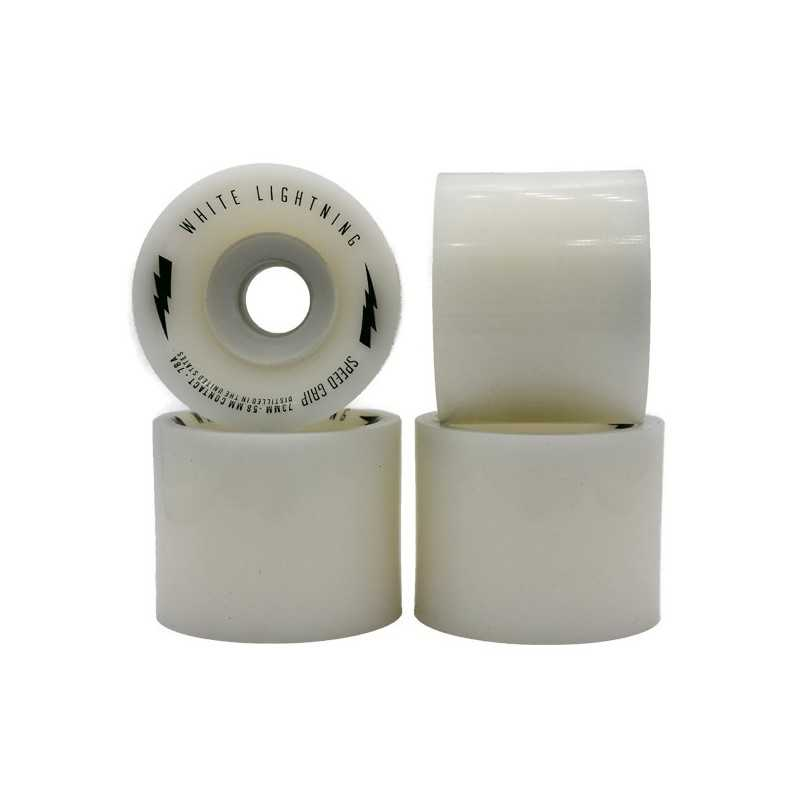 White Lightning Speed Grip 73mm Longboard Wheels