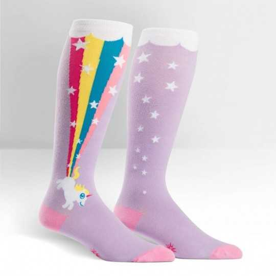 "Sock It To Me ""Rainbow Blast"" Knee-high Stretch-It Socks"