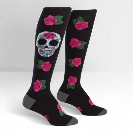 "Sock It To Me ""Sugar Skull"" Knee-High Socks"