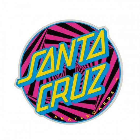 "Santa Cruz Party Dot 4"" Sticker"
