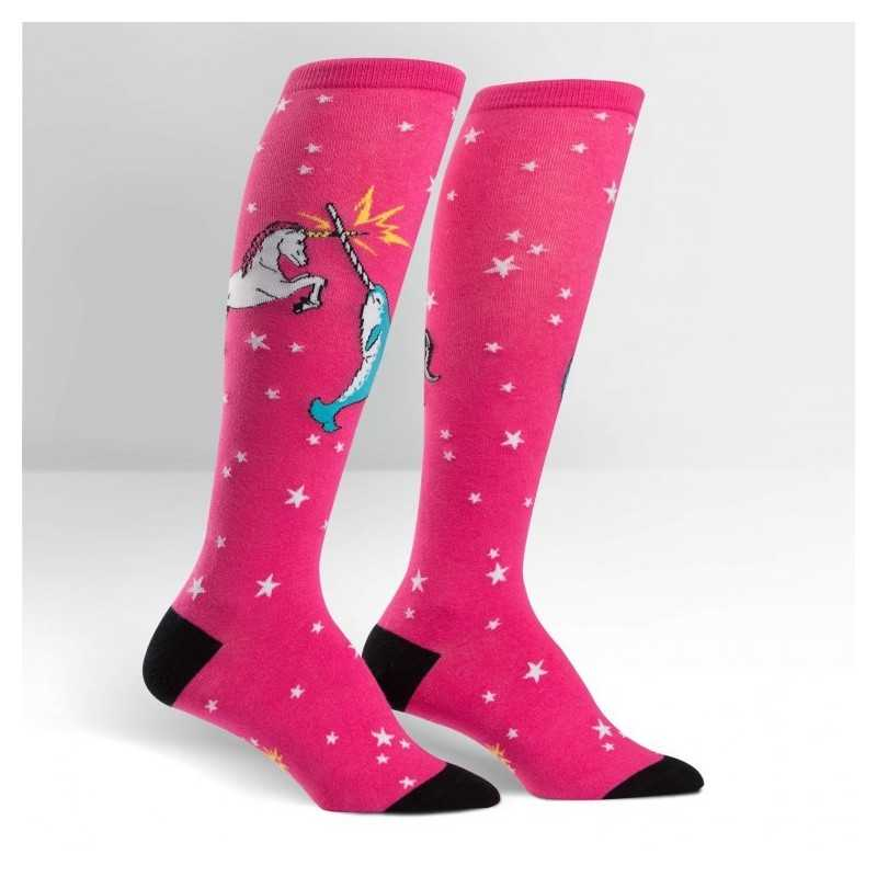 """Sock It To Me """"Unicorn Vs Narwhal"""" Chaussettes Mi-bas"""