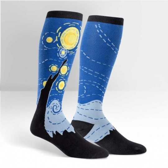 "Sock It To Me ""Starring Night"" Knee-high Stretch-It Socks"