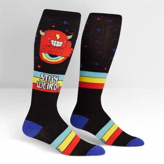 "Sock It To Me ""Be Weird"" Knee-high Stretch-It Socks"