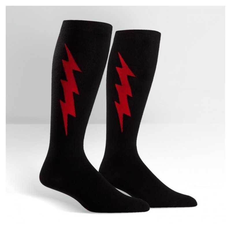 """Sock It To Me """"Super Hero!"""" Noir & Rouge Chaussettes Mi-bas Stretch-It"""