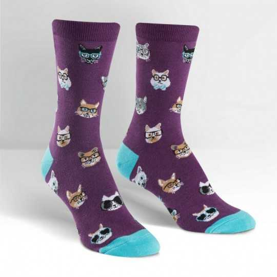 "Sock It To Me ""Smarty Cats"" Women's Crew Socks"