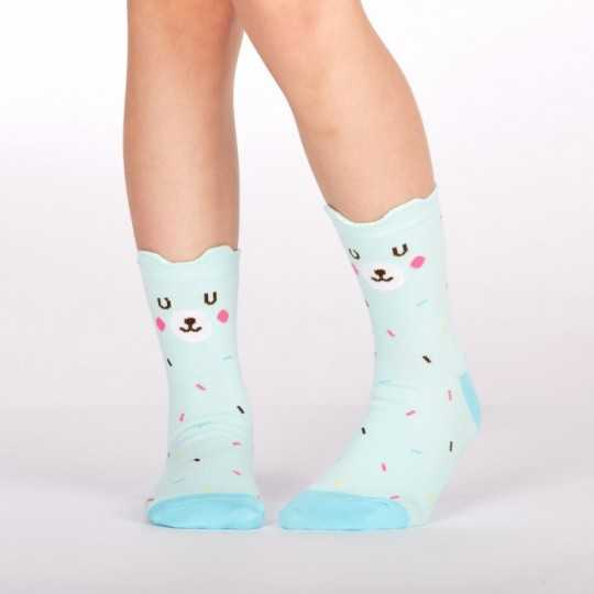 "Sock It To Me ""Bearly Sprinkled"" Kid's Crew Socks"