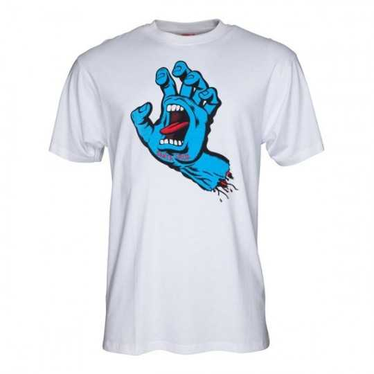 "Santa Cruz ""Screaming Hand"" White Tee Shirt"