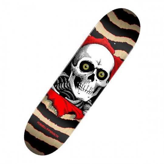 "Powell Peralta Ripper Birch Gold/Black 8"" Plateau Skateboard"