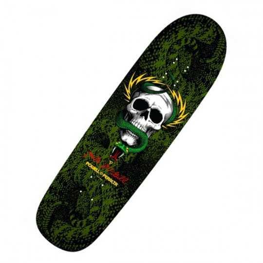 "Powell Peralta McGill Snake Skin 8.97"" Black/Green Plateau Skateboard"